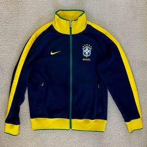 Nike Brazil Soccer Track Jacket Men's Medium